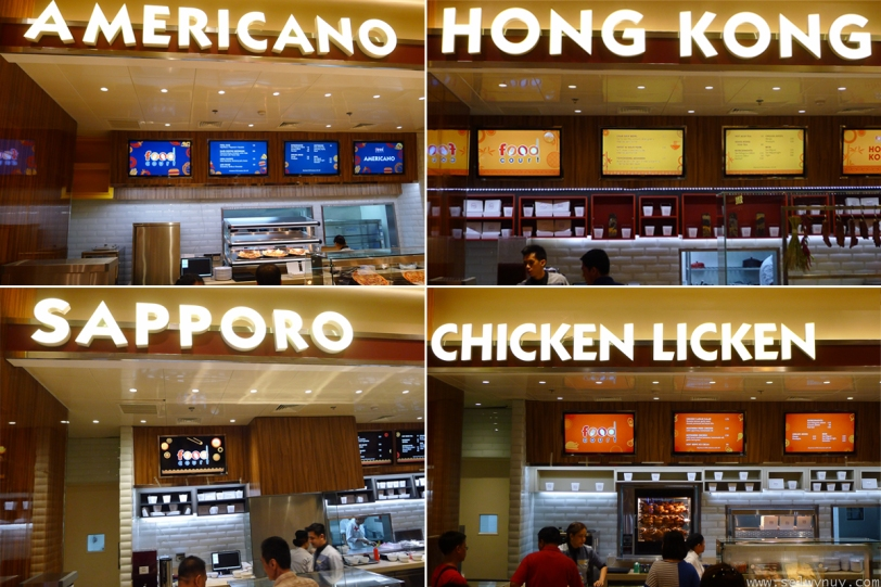 Solaire Food Court Choices