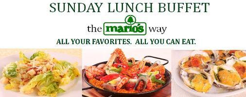 marios sunday lunch buffet